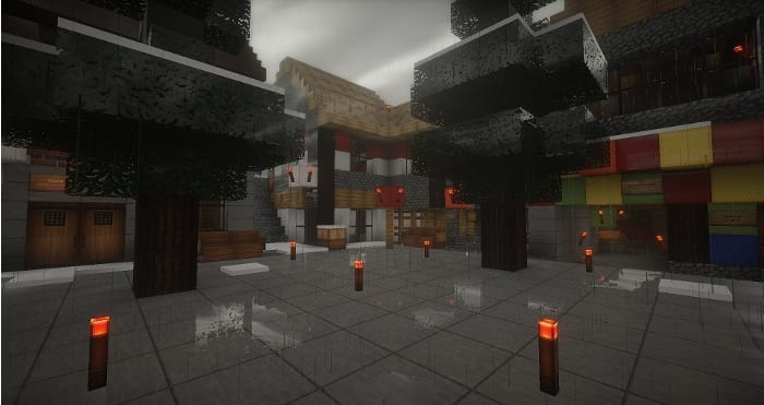 Reconstrucción de una plaza con Minecraft