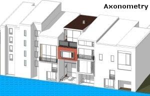 Casas adosadas: dimensión de los frentes. Un ejemplo de frente estrecho del proyecto barrio Borneo-Sporenburg en Ámsterdam