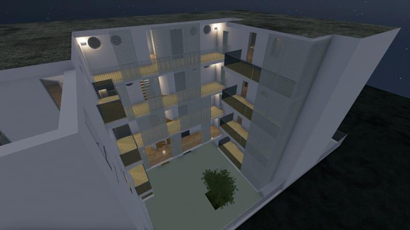 Modelo de vivienda social inspirado en el proyecto en Lecce