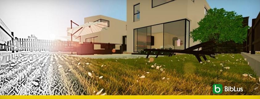 Proyectos de casas adosadas con patio o jardin ejemplos y dwg para descargar BIM software Edificius