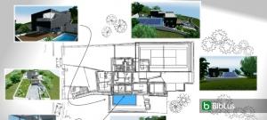 Proyecto de una vivienda unifamiliar de dos pisos con DWG para descargar software BIM Edificius