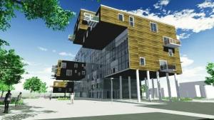 render de WoZoCo Apartamentos realizado con el software BIM Edificius