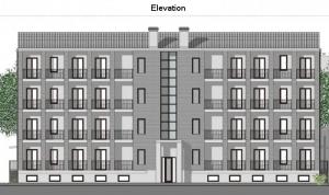 Casas en línea – Milán – Elevación realizada con el software BIM Edificius