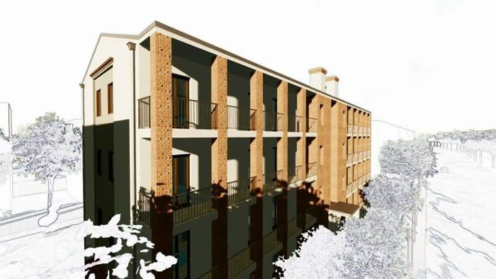 Casas en línea – Milán – render Edificius