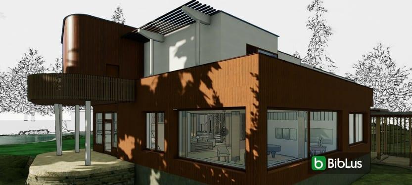Villa Mairea, el diseño en DWG y 3D BIM para descargar software BIM Edificius