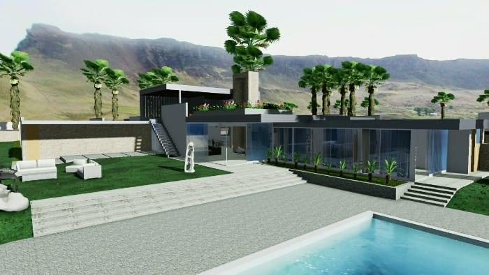 Vivienda-unifamiliar-Casa-Kaufmann-render-Cenador-software-BIM-Edificius
