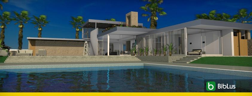 Vivienda unifamiliar casa Kaufmann_definicion, arquitectura y proyectos para descargar_software BIM arquitectura Edificius
