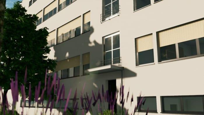 casas-en-línea-Weissenhof-render-fachada-software-BIM-Edificius