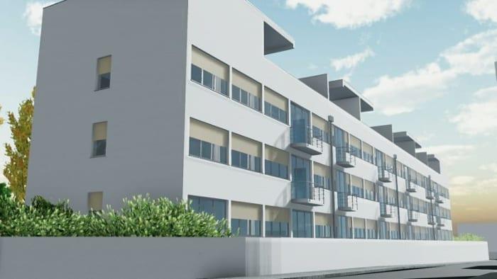 Casas en línea – Weissenhof – Stuttgart, obra de Mies van der Rohe – Render