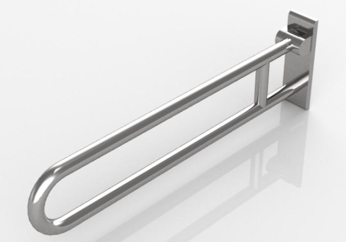 Barra de baños para discapacitados abatible Hewi - 801.50.220 - Librería de objetos BIM Edificius