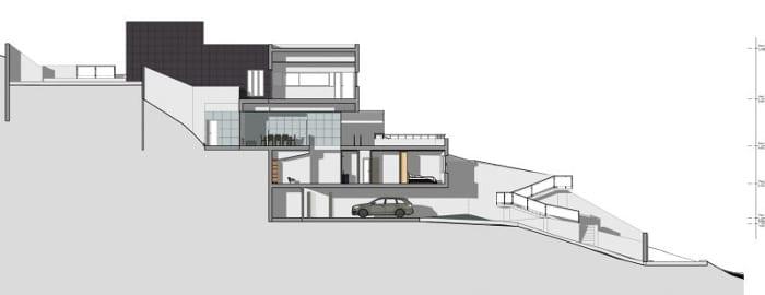 Diseño viviendas unifamiliares de dos pisos secciones C-C software BIM Edificius