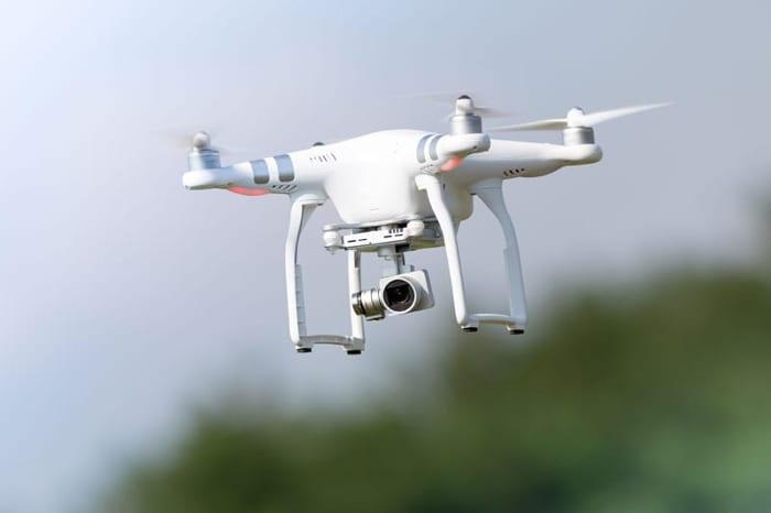 Dron en acción