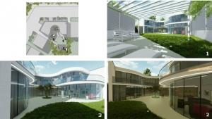 viviendas unifamiliares-Casa-Kwantes-planimetría-con-conos-ópticos-y-vistas