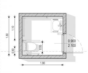 Planta de baño para discapacitados - normativa Española - Edificius