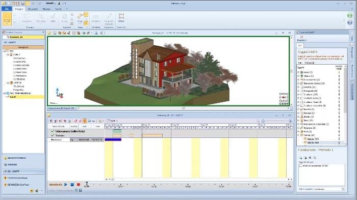 Interfaz del ambiente 4D-GANTT
