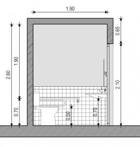 Sección de baño para discapacitados - Normativa Española - Edificius