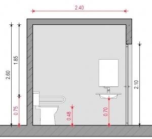 año para discapacitados - Normativa Chilena - Sección A-A' Edificius