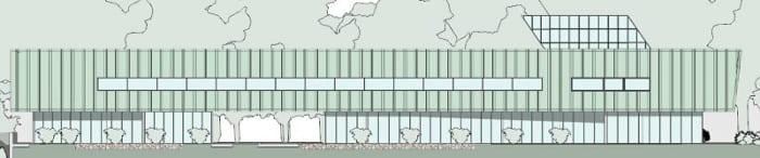 Alzado-Norte_Harvey-Pediatric-Clinic_software-BIM-arquitectura-Edificius