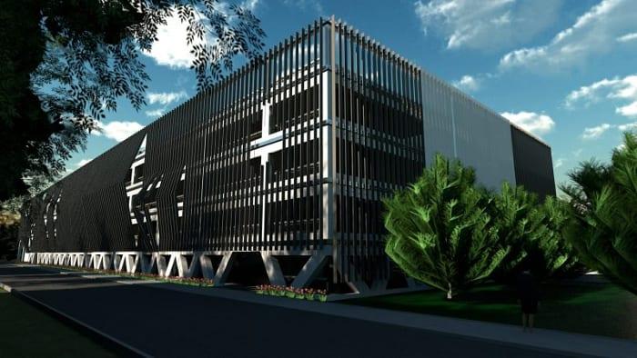 Diseño-aparcamientos-DWG_Render-Fachada_software-BIM-arquitectura-Edificius