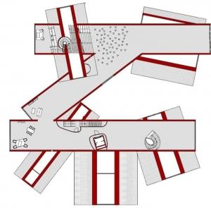Diseñar-museo-VitraHaus-planta-primer-nivel-software-BIM-arquitectura-Edificius