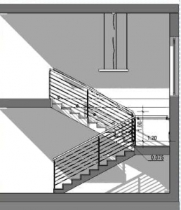 Diseño-de-escaleras-interiores_Escalera-con-dos-lances-SECCION-software-BIM-arquitectura-Edificius