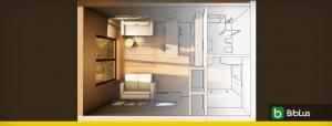 Arquitectura departamentos pequeños de 40 m²: criterios y ejemplos para descargar