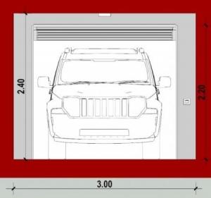 Módulo Individual_A-A_Planta_Como diseñar un garaje_software BIM Edificius