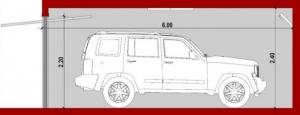 Módulo Individual_B-B_Planta_Como diseñar un garaje_software BIM Edificius