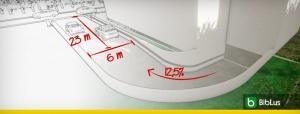 Diseño de la rampa garaje: la guía completa con esquemas, características constructivas, video y ejemplo para descargar
