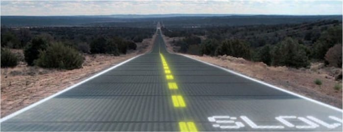 iluminacion led solar road