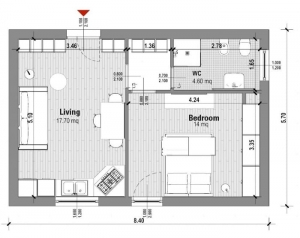 Planos-de-apartamentos-de-dos-ambientes-planta-40-mq-software-bim-arquitectura-edificius