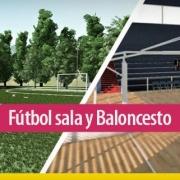 Diseño de instalaciones deportivas: cancha de fútbol sala y cancha de baloncesto