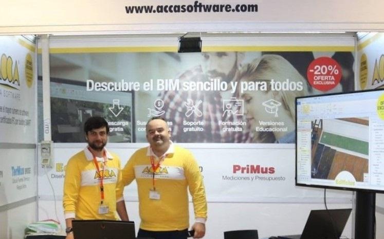 Estand ACCA software en la edición 2018 de EUBIM de Valencia (España)