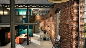 Diseno_de_un_loft-render-vista-altillo-cama-software-arquitectura-BIM-Edificius