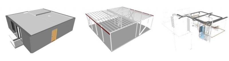 Modelo federado en las disciplinas de arquitectura, estructura e instalaciones