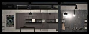 Diseño de una tienda de ropa, Sección transversal realizada con Edificius