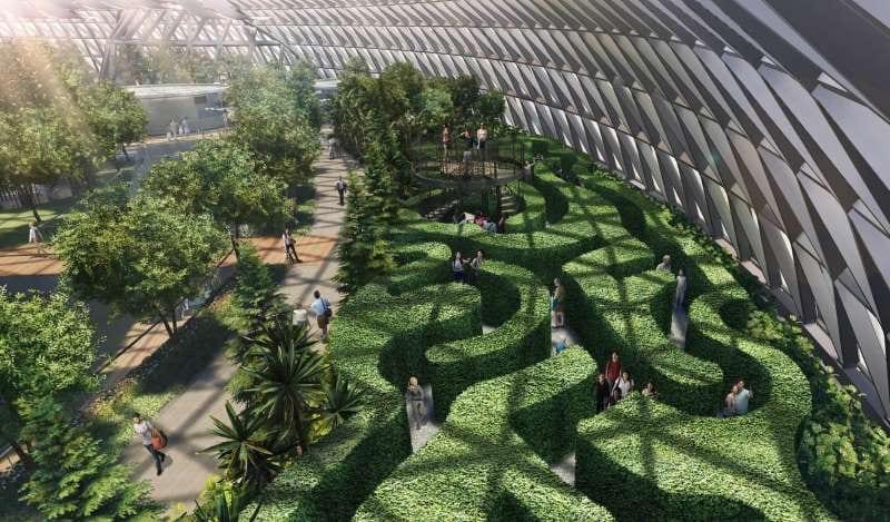 Jardines temáticos del Aeropuerto Jewel Changi