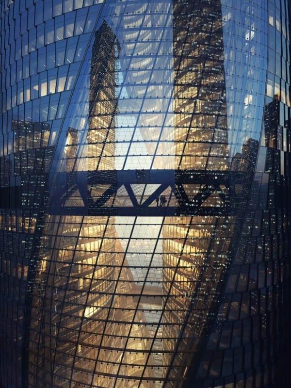 Render BIM de la torre Leeza Soho en Pekín por Zaha Hadid