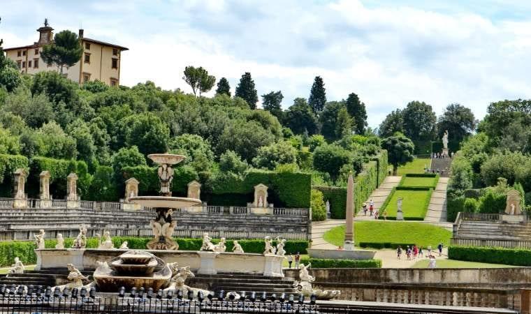 Foto del jardín di Boboli en Florencia del siglo dieciséis al diecinueve