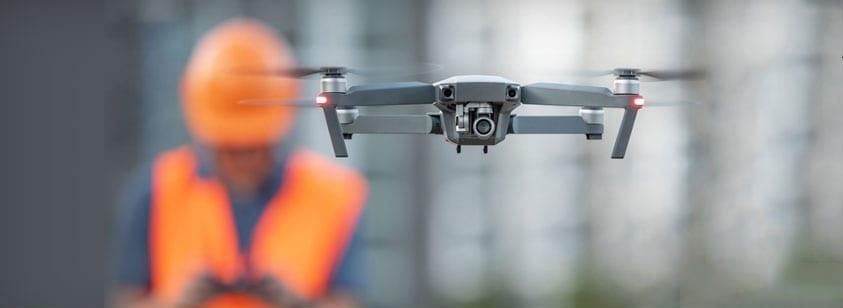 Foto representativa del dron para el utilizo en la seguridad de obra como tecnología emergente del sector de la construcción