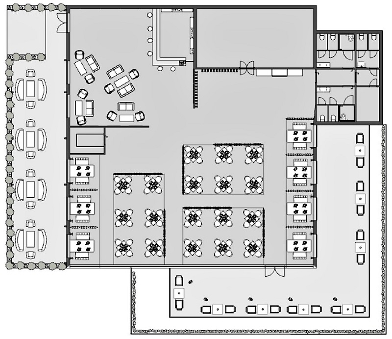 Restaurante | Plano del estado realizado