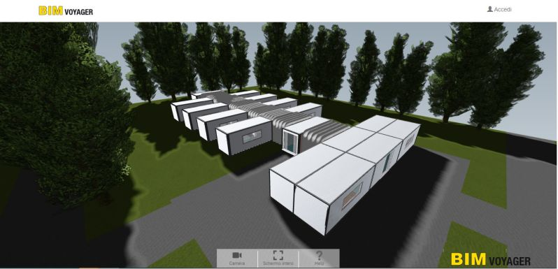 Navegación del modelo de los hospitales de campaña con BIM VOYAGER