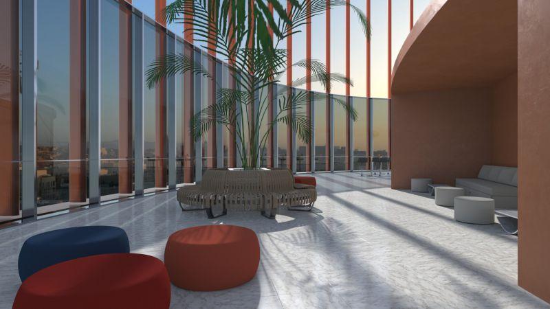 Edificius User eXperience | Imagen renderizada de la terraza panorámica