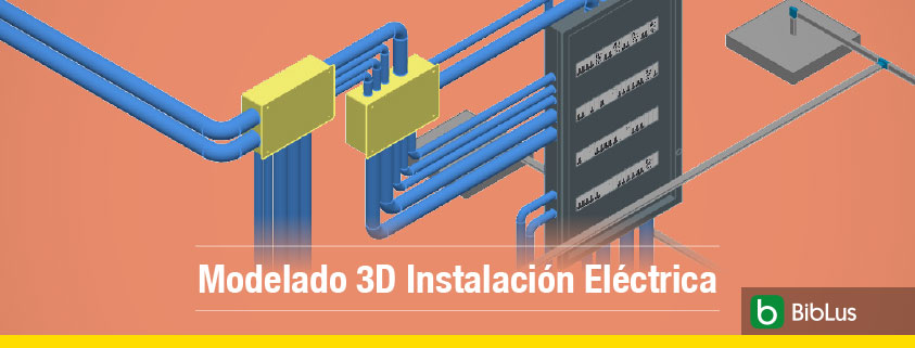Modelado 3d instalación electrica