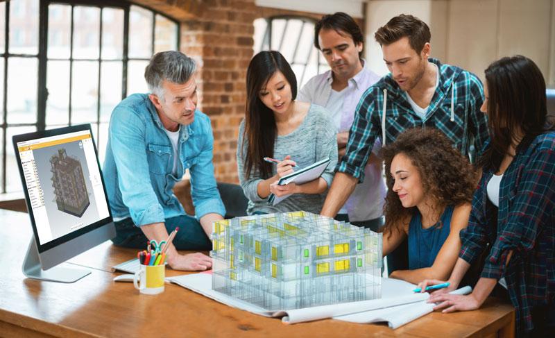 demostracion del trabajo en team BIM-coordination-trabajo-colaborativo