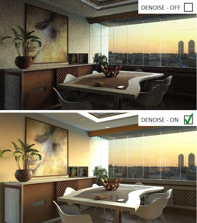 Renderizado realizado con el nuevo motor de renderizado de Edificius | AIrBIM-Pro2