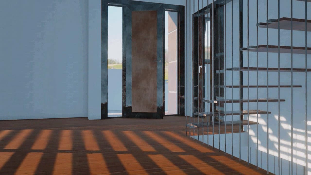 Rendu de l'intérieur et escaliers de ML-House