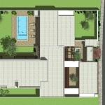 Plan de Casa AltaBrisa24 avec détails du toit et jardin