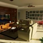 Rendu 3D de détails Intérieur de Casa AltaBrisa24 - Salon et Séjour