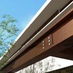 Rendu 3D avec détails Extérieur de Casa AltaBrisa24 - Poutre auvent